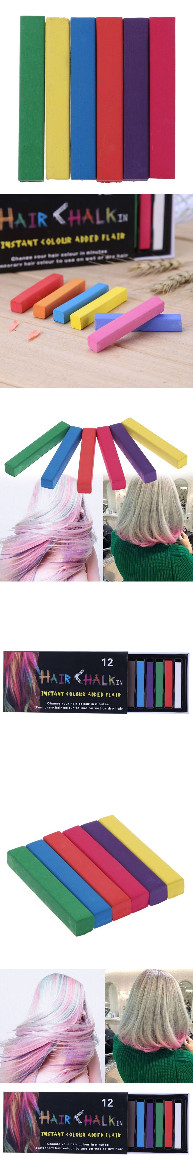 Beauty Convenient Temporary Super Hair Dye Colorful Chalk Hair Color Alcohol-Free chalks For The Hair Giz Pastel