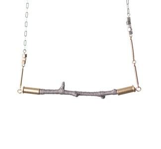 horizon necklace, cursive designs
