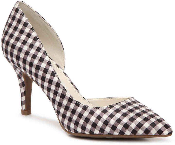 Anne Klein Women's Yolden Pump | plaid heels | plaid pumps | plaid shoes | womens shoes | cute shoes | fashion | 60s fashion | 60s style