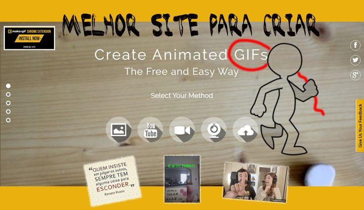 MELHOR SITE PARA CRIAR GIF - online (sem programas) 2017
