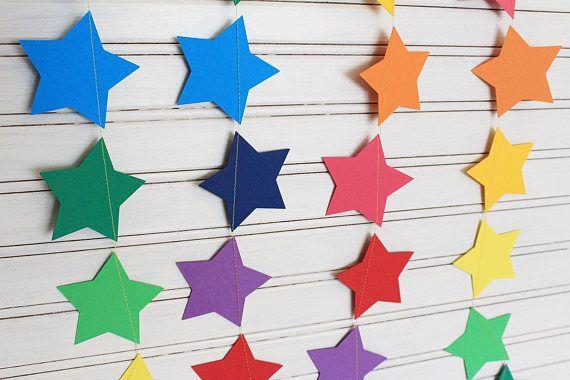 Rainbow Stars Garland 3m or 6m