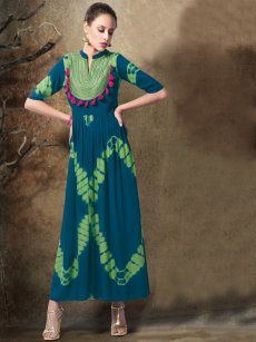 Buy Vesh Bottle Green Cotton Kurti - JYOT-1504 ✔ Free Shipping ✔ 15 Days Return ✔ Cash on Delivery