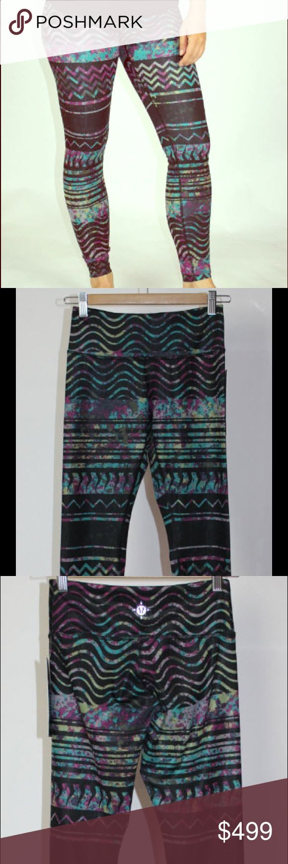 NWT Lululemon Tribal Print Wanderlust Leggings NWT full length not Capri Size 8 2014 Tribal Print being sold on mult places for exposure. Rude comments on price not needed Wanderlust Wunder Under lululemon athletica Pants Leggings