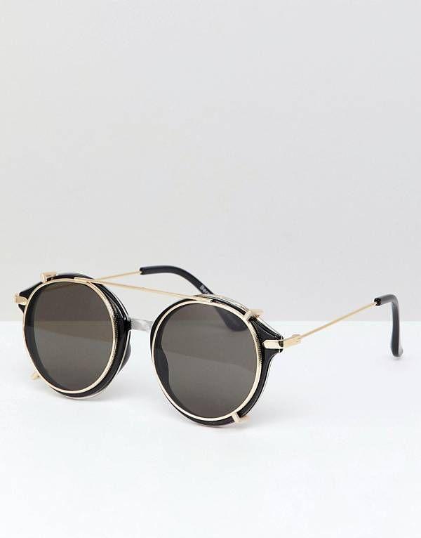 36f68361f7 Bershka Double Frame Sunglasses In Black | Sunglass in 2019 ...