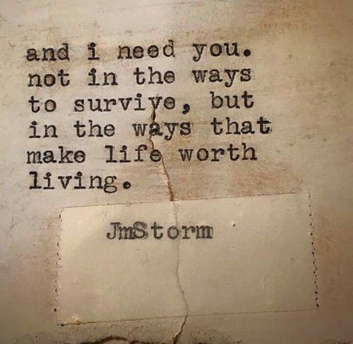 So true.. I need you