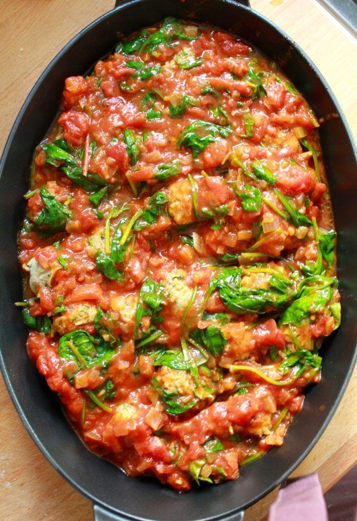 Balletjes in tomatensaus met verborgen groenten