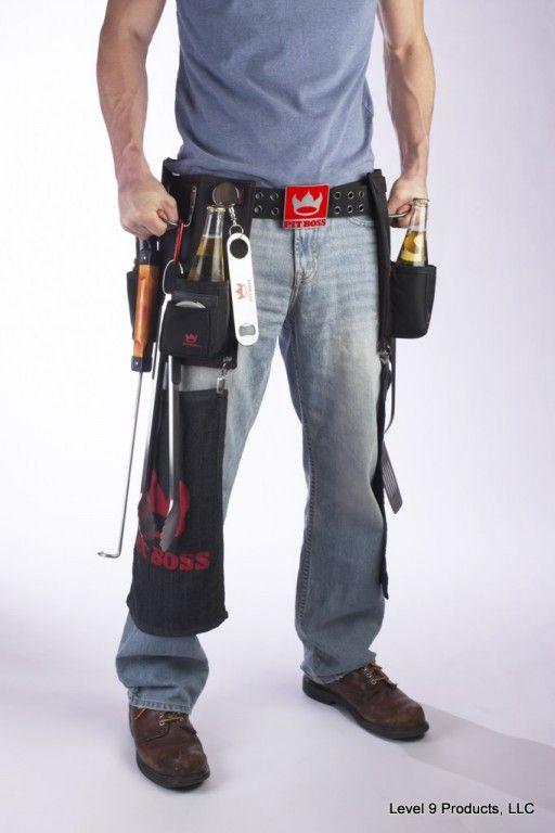 BBQ toolbelt: Boss Bbq, Gifts Ideas, Bbq Grilled, Bbq Pit, Father Day Gifts, Bbq Tools, Bbq Toolbelt, Pit Boss, Boss Belts