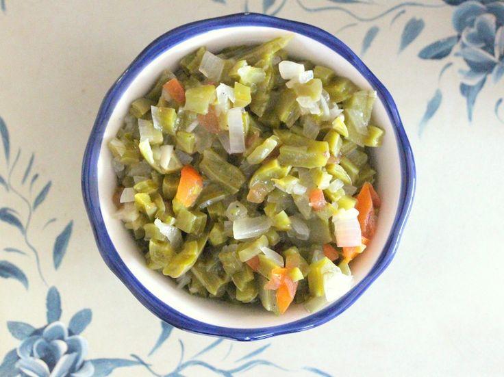 Cactus Salad (Warm) | Nopalitos