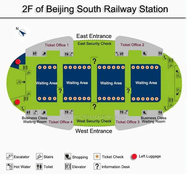 2f Beijing South Railway Station Map China China Train Railway Station Beijing Subway Map