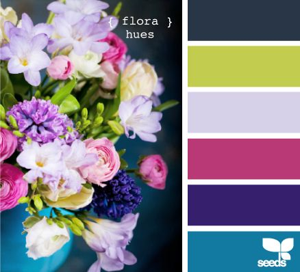 This gorgeous color palette just sings spring! Bright and cheerful ...Riley's room