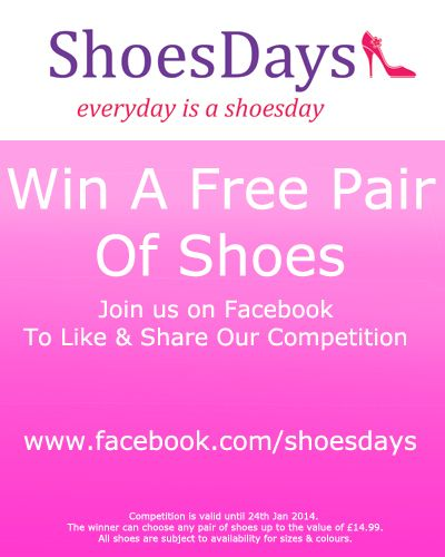 Find us on facebook and join our competition for a free pair of shoes www.facebook.com/shoes