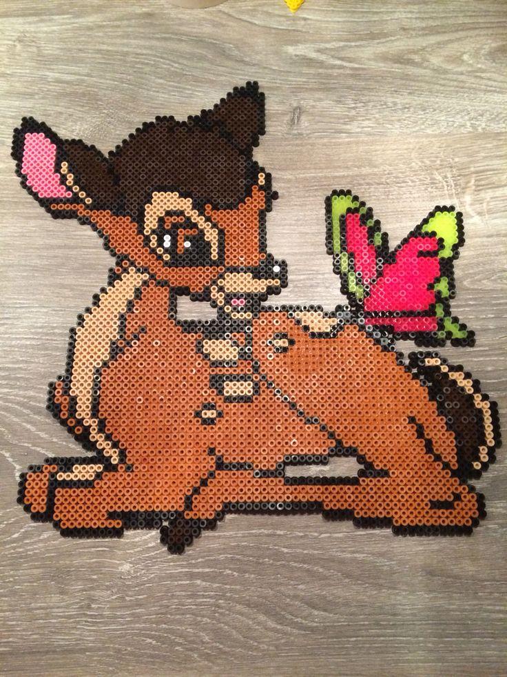Bambi Disney hama beads by Shirley Boon