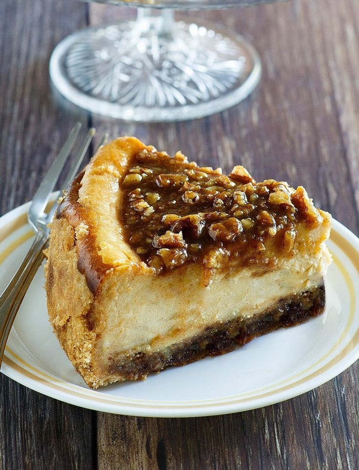 Pecan Pie Cheesecake Thanksgiving and Christmas Dessert Recipe