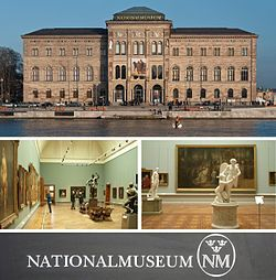 Nationalmuseum (or National Museum of Fine Arts) is the national gallery of Sweden, located on the peninsula Blasieholmen in central Stockholm.