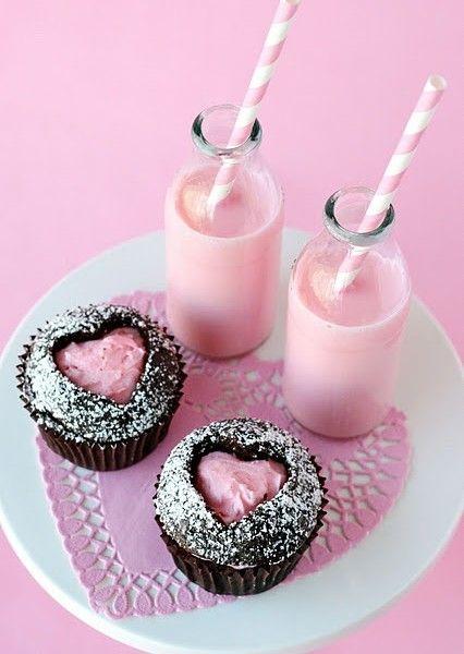 alla hjärtans dag baka cup cakes dekorera inspiration tips ide kaka