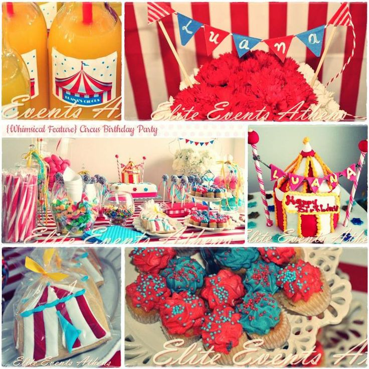 Elite Events Athens 'Circus Birthday Party' was featured to Whimsically Detailed  'Come One, Come All to the Greatest Show in Town! I love seeing different variations of circus parties! From animals to tents and all the colors- every party is unique.This circus themed party was organized from A to Z by: Elite Events Athens. Join Luana on her birthday and prepare to clown around. We'll play carnival games and eat yummy food too! A whole day of excitement is here only for you!'