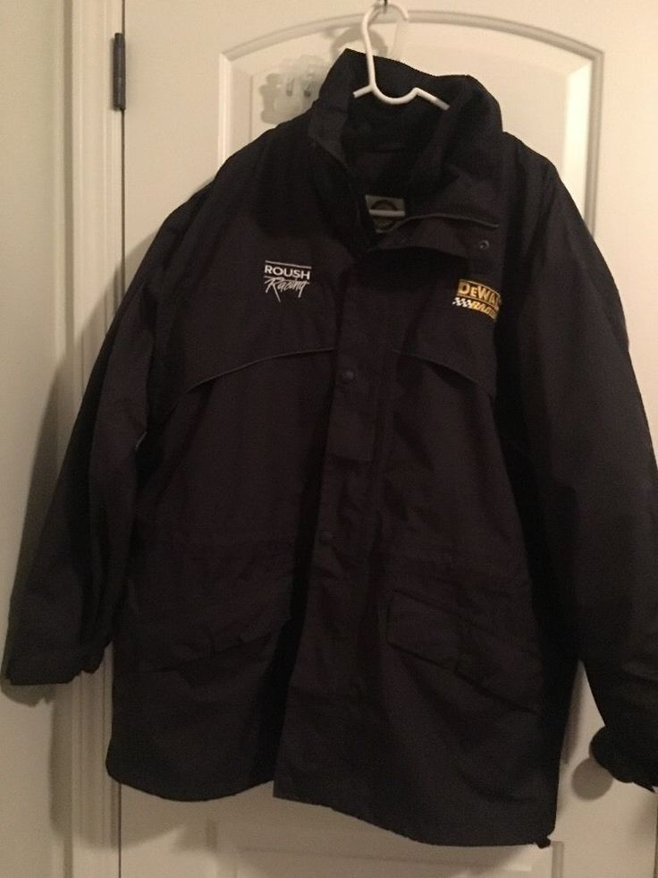 dewalt roush racing north end menu0027s 2in1 jacket parker coat sz xl black
