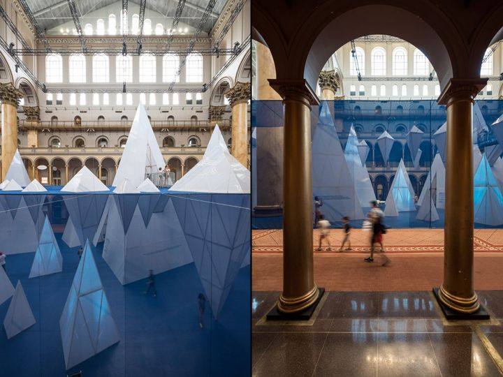 Icebergs Installation By James Corner Field Operations Washington DC Retail Design Blog