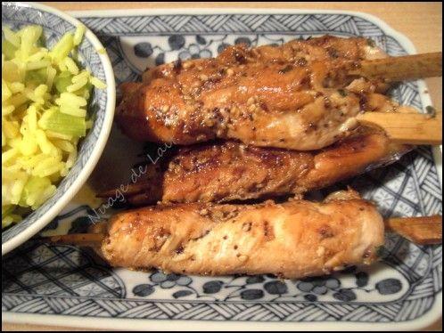 A la maison nous apprécions beaucoup grignotter ces petites brochettes Japonnaises. Elles se retrouvent souvent à notre table le dimanche soir ou encore lors d'un apéro. Habituellement je prépare ces brochettes de poulet au sésame à la sauce tériaki ou...