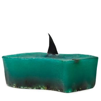 Shark Fin Soap, by Lush -- Did you know that every year up to 100 million sharks are needlessly killed for shark fin soup? Created for Discovery Channel's Shark Week, its softening seaweed, scrubby fine sea salt and zesty lime oil make it a refreshing way to cool down this summer. 100% of the price of this soap will be donated to grassroots organizations dedicated to the protection and conservation of sharks. Now you can swim with the sharks and help protect them, too!
