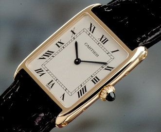 The Cartier Tank.  On my luxury item bucket list.  Owned by Princess Diana, Jackie O, etc. so you know it's pure class