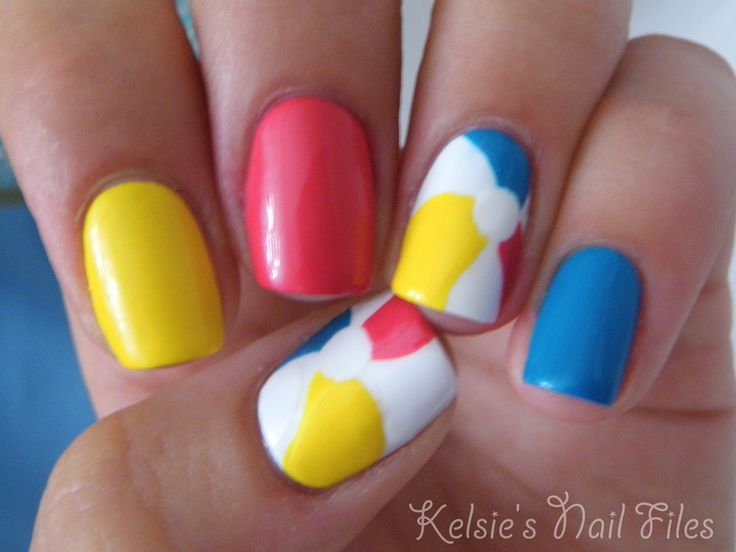 Beach Ball Nails: Kelsie S Nail, Makeup, Summer, Beach Ball, Nail Design, Nails, Nail Art