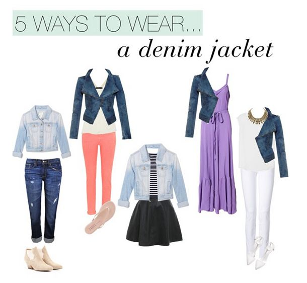 A jean jacket is definitely a wardrobe staple.