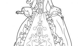 Mewarnai Gambar Barbie Princess Untuk Paud Mewarnai Gambar Barbie