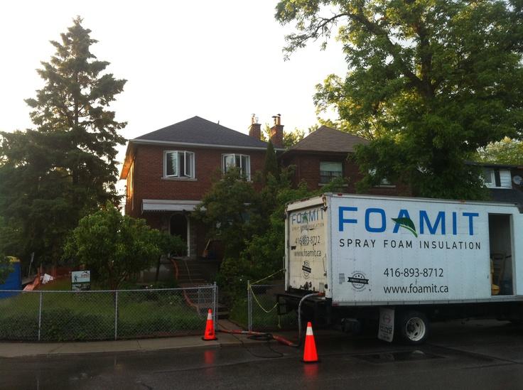 Ready to go in Mimico, Toronto #sprayfoam #foamit