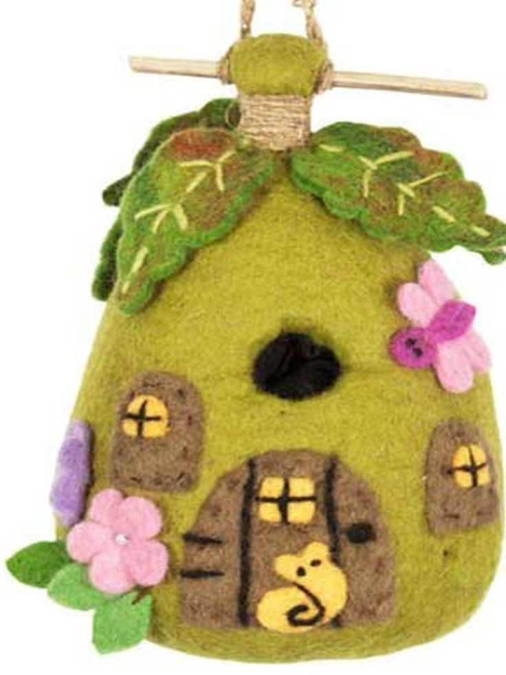 Wild Woolies Felt Birdhouse - Fairy House