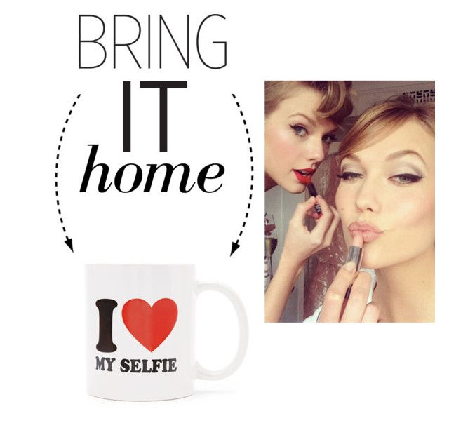 """""""Bring It Home: I Love My Selfie Mug"""" by polyvore-editorial ❤ liked on Polyvore"""
