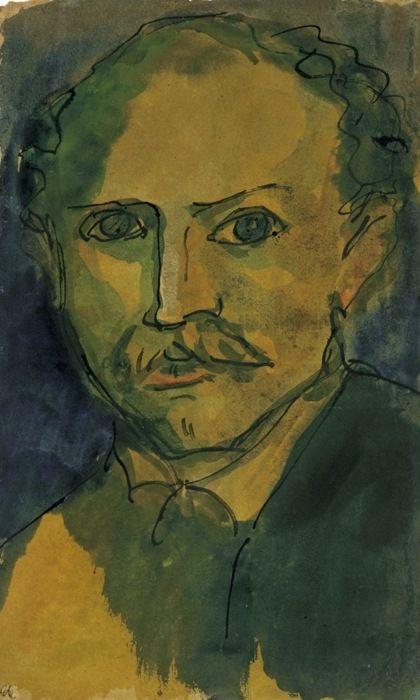 Emil Nolde (German, 1867-1956), Self-portrait, 1920. Watercolour