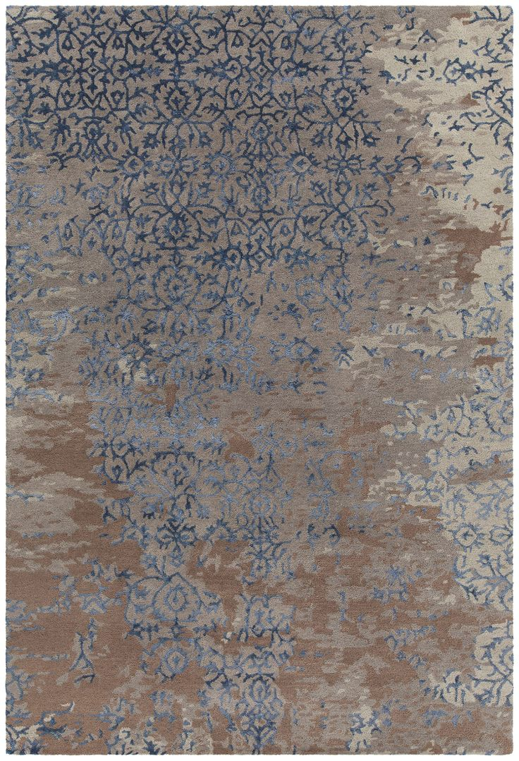 best  contemporary area rugs ideas on pinterest  bedroom area  - rupec patterned rectangular contemporary area rug  greybluebrown