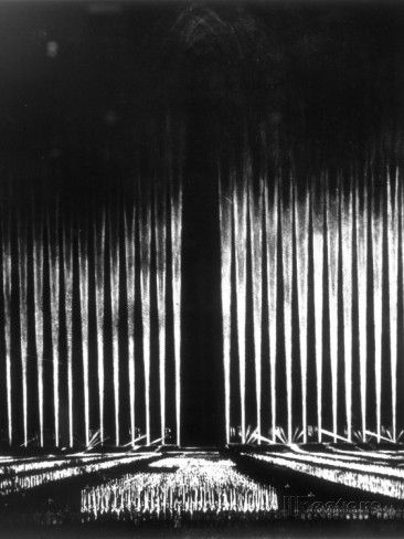 "Albert Speer's ""Cathedral of Light"" at the Nuremberg Rally Photographie sur AllPosters.fr"
