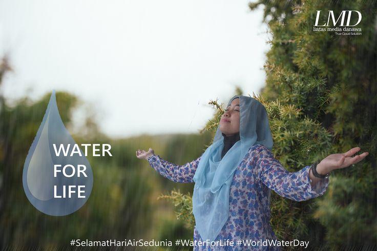 LMD - Lintas Media Danawa mengucapkan Selamat Hari Air sedunia.  #SelamatHariAirSedunia #WaterForLife #WorldWaterDay   Apakah kamu tahu? 97% air di bumi adalah air asin, 3% air tawar, dimana ⅔ nya bebentuk es & gletser. Mari kita manfaatkan air sebaik-baiknya dan jaga kebersihan air agar generasi berikutnya masih dapat menikmati air bersih dan sehat.