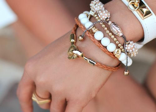 /: Arm Candy, Colors Combos, Boho Chic, Stacking Bracelets, Inspiration Pictures, Wrist Candy, Fashion Bloggers, White Gold, Arm Parties