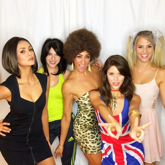 Pin for Later: All the Celebrity Halloween Costumes of 2015 Nina Dobrev, Kayla Ewell, Hillary Harley, and Friends as the Spice Girls