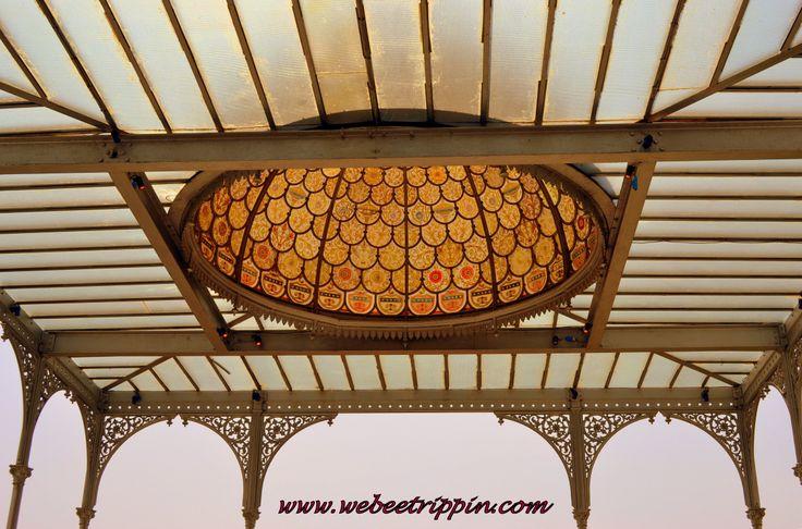 Hyderabad - Taj Falaknuma Palace crystal dome in one of the dining verandahs.