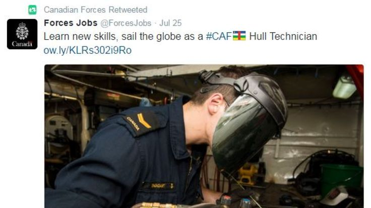 Twitter replaces hashtag for Canadian Forces with flag emoji for African soccer
