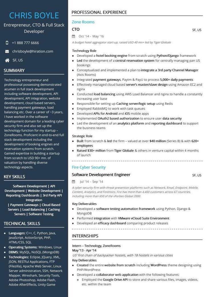 Full Stack Developer Resume Best Of Google software