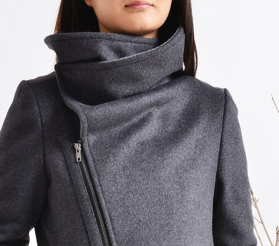Black Swan warm quilted asymmetrical cashmere by idea2lifestyle