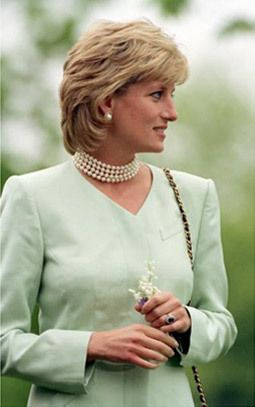 June 4, 1996: Princess Diana & Northwestern University President Henry S. Bienen in Evanston, IL. Diana, Princess of Wales is on a visit to raise money for breast cancer research.