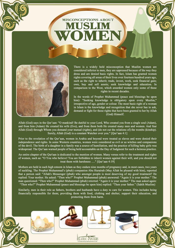 the page's link is informative about islam and not a Dubious link Misconceptions about Muslim Women