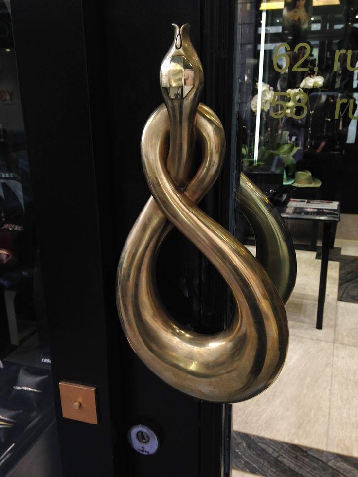 Art of Metalwork -- Door Handles Knotted Serpentine Snake & 164 best Snake Art images on Pinterest | Snakes Charm bracelets and ...
