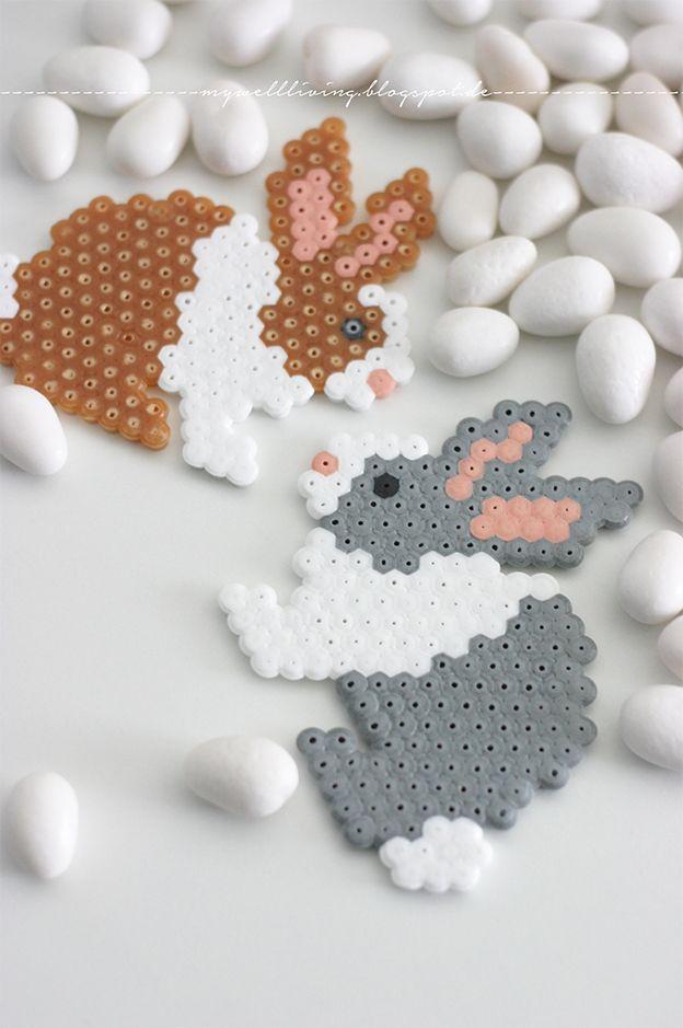well living: ... Bügelperlen Bunnys!