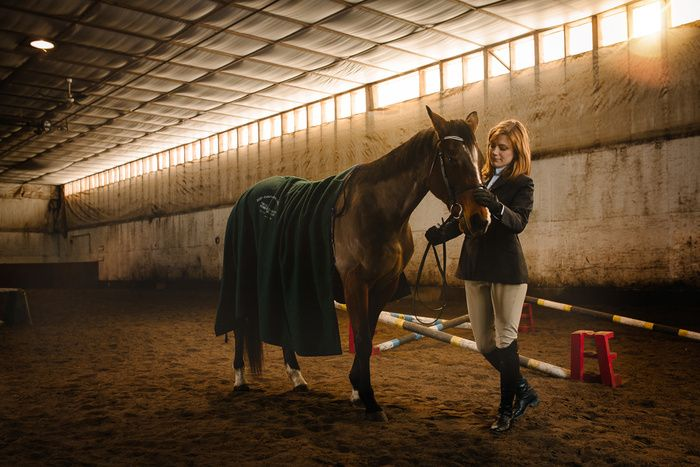 """Before The Big Show"" by Bryan Cooper -  #fstoppers #Lifestyle #environmentalportrait #Horse #equestrian #Animal #woman #PaulC.Buff #Lighting #photeksoftlighter #Einstein #backlighting"