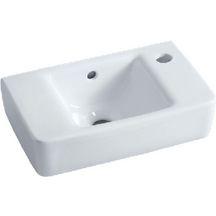 Lave-mains PRIMA STYLE 40x25cm, 1 trou percé à droite, fixation par boulons, blanc Réf 00134300000 - ALLIA - Sanitaire - Brossette