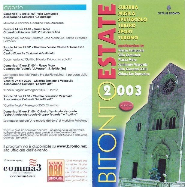 Partner Bitonto estate 2003