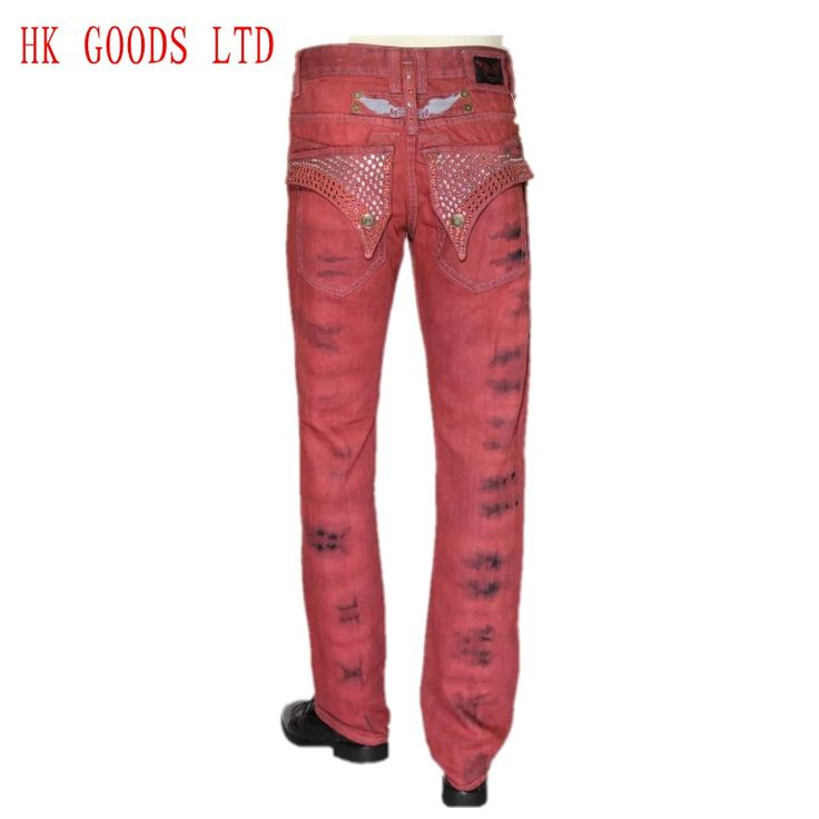Find More Jeans Information about US Style 2016 New Narrival Red Robin Men Quality Jeans Slim Printed Jeans Straight Denim Designer Famous Painted  High Fashion,High Quality jeans panties,China jeans sport Suppliers, Cheap jean romper from HongKong Goods LTD-Smarter Shopping Better living ! on Aliexpress.com