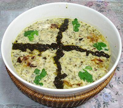 ペルシャ料理レシピ集-ヨーグルトのスープ(アーシュ マーストゥ)